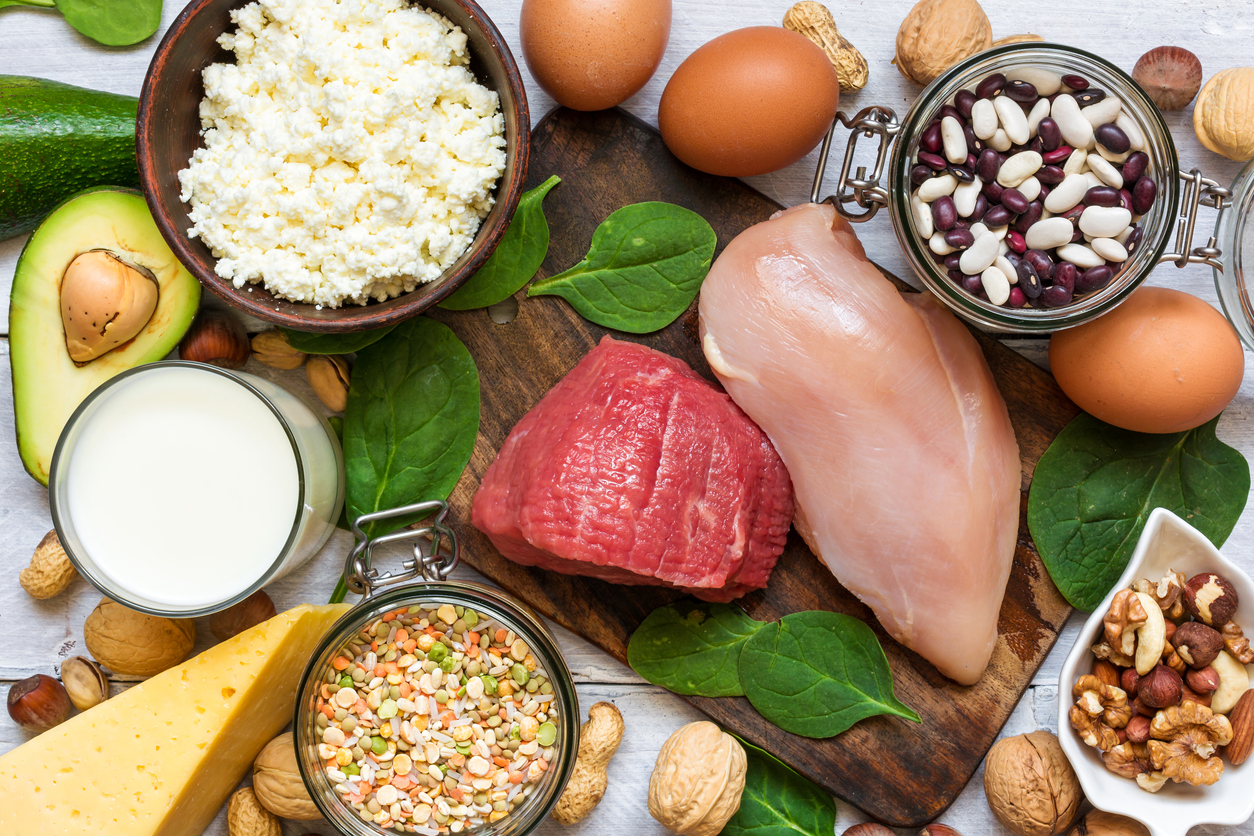 Food high in protein.